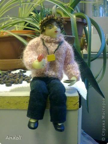 Портретные куклы. 14 см, питерская пластика, ткань, нитки. Буду рада любым комментариям. фото 4