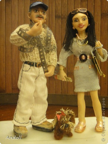 Портретные куклы. 14 см, питерская пластика, ткань, нитки. Буду рада любым комментариям. фото 1