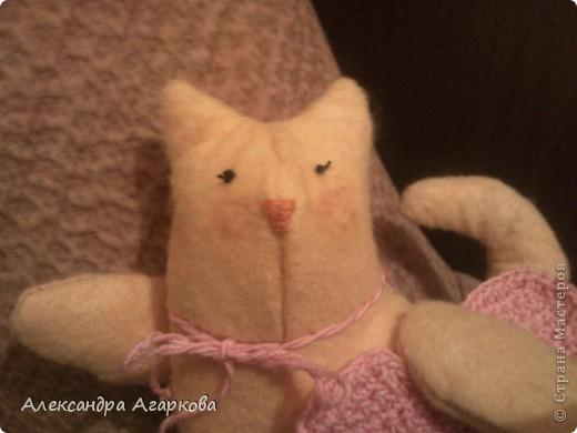 Вчера наконец-то сшила своего первого котика! Вообще-то дружу с нитками в компании с крючком и спицами, но пришлось и с иголкой подружиться. Хотя с детства шить не люблю, а от швейной машинки просто в дрожь бросает.  фото 2