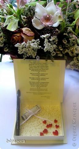 20-го ноября выдаю свою лучшую подругу замуж.  Эта коробочка сделана для неё. фото 6
