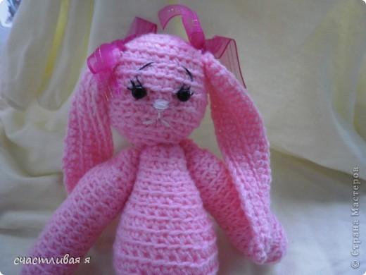 мой первый опыт вязания крючком и розовое чудо)))) фото 1