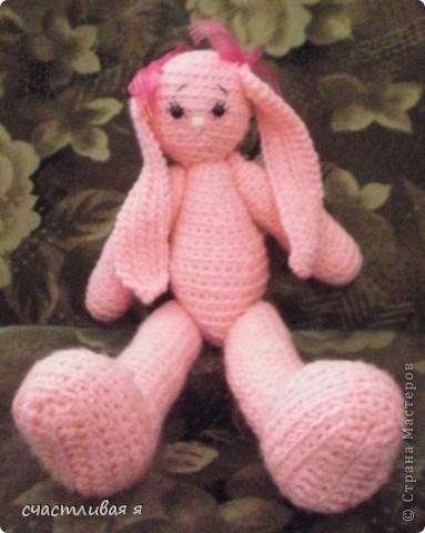 мой первый опыт вязания крючком и розовое чудо)))) фото 2