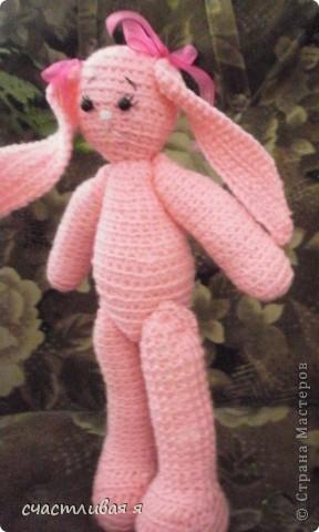 мой первый опыт вязания крючком и розовое чудо)))) фото 3