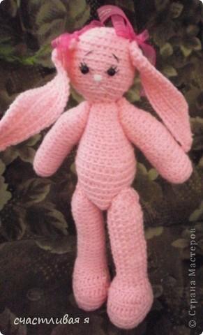 мой первый опыт вязания крючком и розовое чудо)))) фото 4