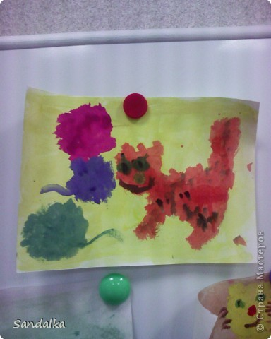 Трехлеточки рисуют тычком! фото 3