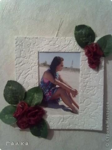 Рамочка для фоточки-основа-обои,декор-скорлупки от фисташек+цветные карамельки ))) фото 2