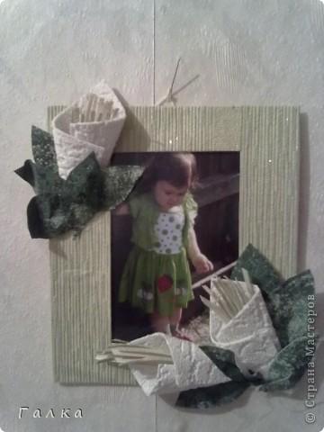 Рамочка для фоточки-основа-обои,декор-скорлупки от фисташек+цветные карамельки ))) фото 3
