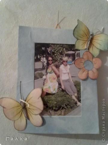 Рамочка для фоточки-основа-обои,декор-скорлупки от фисташек+цветные карамельки ))) фото 4