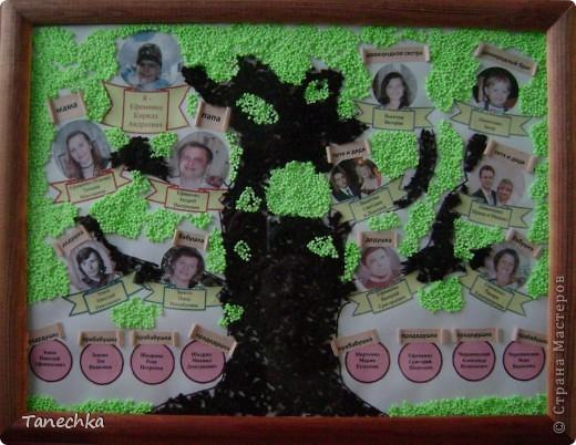 В детском саду попросили сделать генеологическое дерево ко Дню Матери. Вот что у нас получилось. фото 3