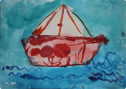 """Вот мы продолжаем наши """"хвастушки"""". Это наши работы сделанные на уроке рисования. Это рыбки на гипсе. Мне они очень нравятся фото 10"""