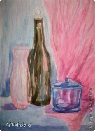 живопись формата А3 написана обычными акварельными красками нарисовала я её, и следующую картину в возрасте 11лет.