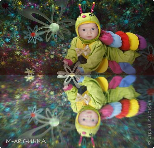 гусеничка в стране цветов фото 1