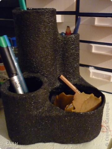 Вот и моя подставка для карандашей ,благодаря МК Pantera(спасибо).