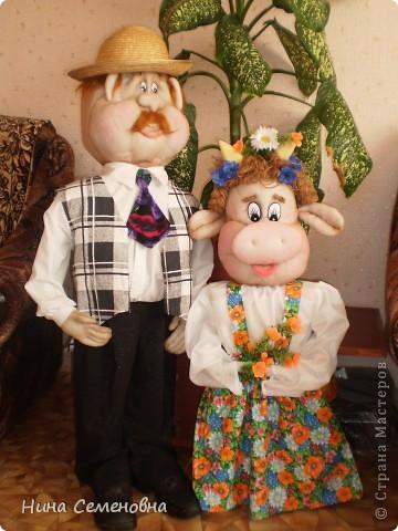 Фермер Степаныч со своей любимицей Майкой