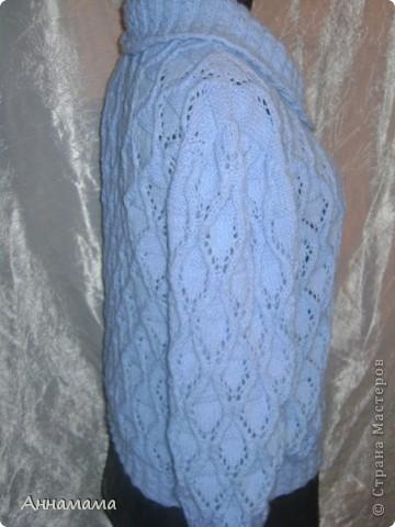 Джемпер с ажурным узором фото 3