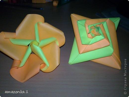 мои первые работы в технике оригами