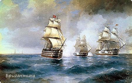 """""""Меркурий"""" — военный бриг русского флота. В мае 1829 года бриг одержал победу в неравном бою с двумя турецкими линейными кораблями, чем увековечил своё имя. фото 2"""