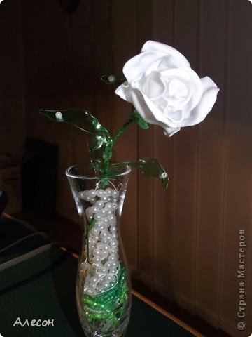 Роза  из  пластиковой  бутылки фото 3