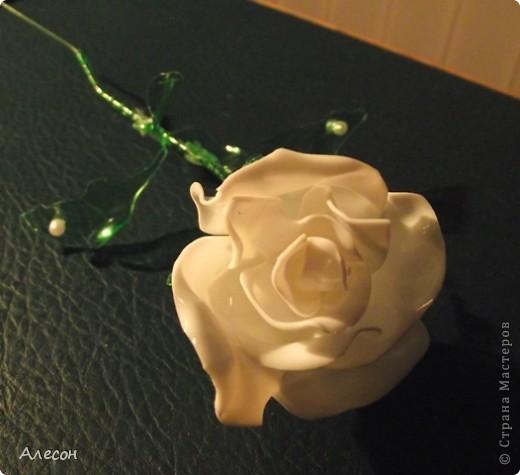 Роза  из  пластиковой  бутылки фото 2