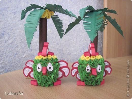 Попугайчики под пальмами