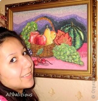 мозаика формата А3 из лоскутков различной ткани моя дипломная работа в детской художественной школе, конечно же на 5)))  (12лет) фото 2