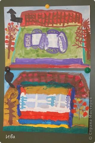 Коллективная работа по теме город.Ученики в возрасте 6-8 лет. Работа на ватмане. фото 15