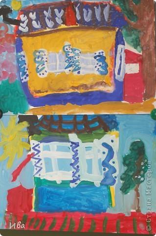 Коллективная работа по теме город.Ученики в возрасте 6-8 лет. Работа на ватмане. фото 16