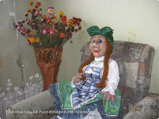 ДУНЯША. Скульптурно-текстильная кукла фото 1