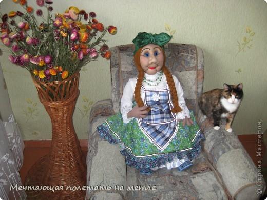 ДУНЯША. Скульптурно-текстильная кукла фото 3