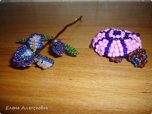 Черепашка, плетение на леске фото 1