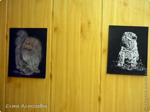 Эту работу делал мой сын Руслан(11 лет). Кот выполнен на бумажной основе серебристого цвета. фото 3