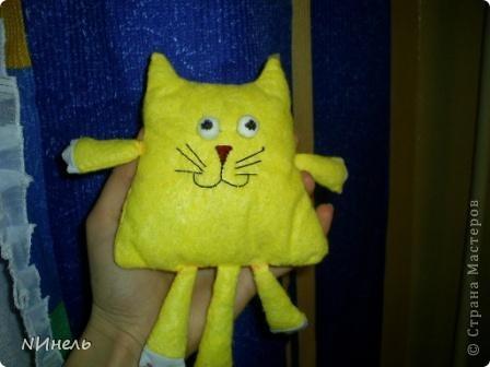 Вот такой кот Лимон родился у меня сегодня под вдохновением, навеянным Тильдами))) Кот должен был быть тоже тильдой, но на тильду не потянул))) фото 2