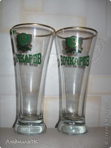 Оформила бокалы для пива. Весь процесс запечатлела на фото. Может, кому пригодится :)) фото 2