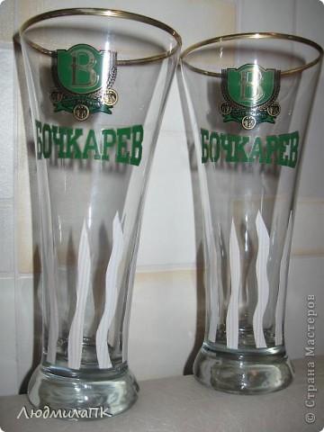 Оформила бокалы для пива. Весь процесс запечатлела на фото. Может, кому пригодится :)) фото 3