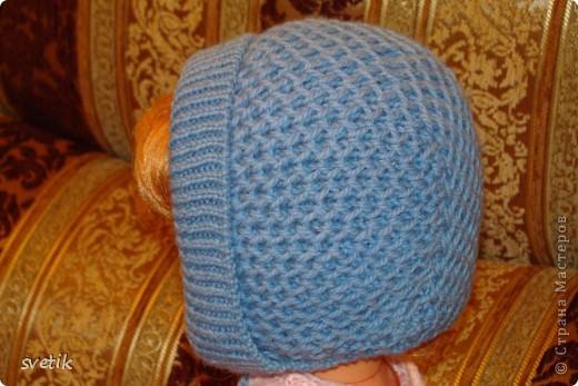 Теплая зимняя шапочка фото 1