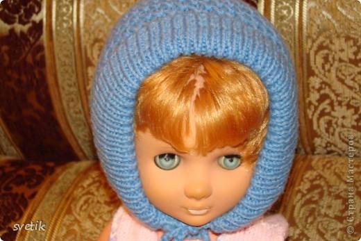 Теплая зимняя шапочка фото 2