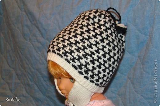 Теплая зимняя шапочка фото 12