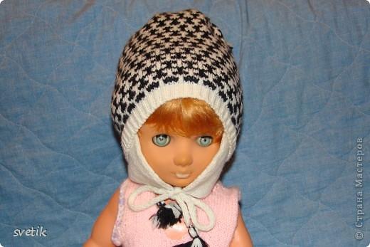 Теплая зимняя шапочка фото 13