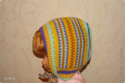 Теплая зимняя шапочка фото 8