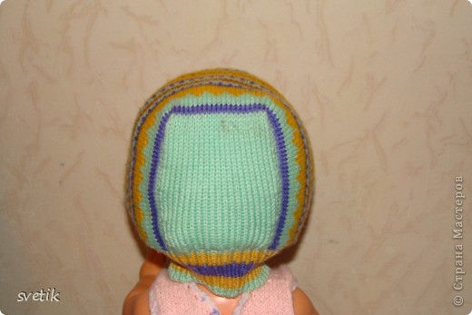 Теплая зимняя шапочка фото 9