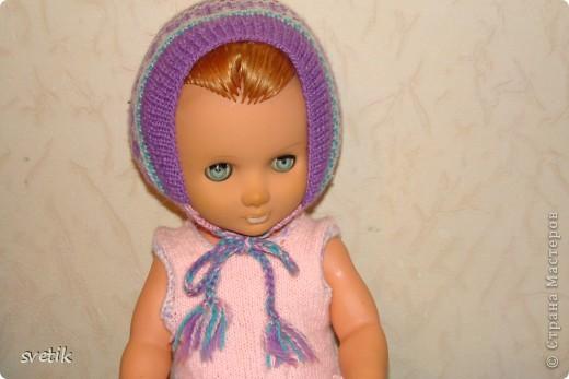 Теплая зимняя шапочка фото 4