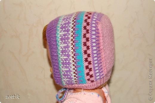 Теплая зимняя шапочка фото 3