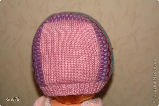 Теплая зимняя шапочка фото 5