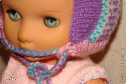 Теплая зимняя шапочка фото 6