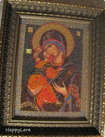 Владимирская Богородица.. Вышивалась Для любимого мужчины Владимира! фото 1