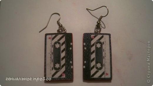 серьги аудиокассеты