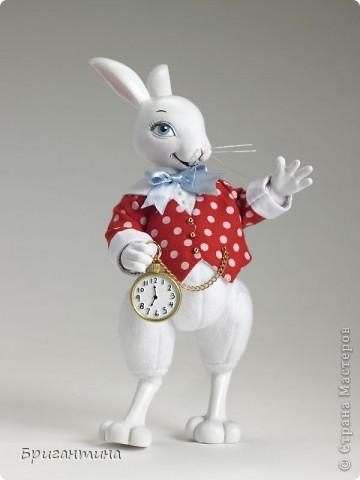 """Сделала белого кролика из """"Алисы в стране чудес"""". Основа из пенопласта. Еще раз спасибо Татьяне за чудесный МК """"Елочные игрушки"""". фото 9"""