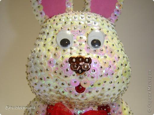 """Сделала белого кролика из """"Алисы в стране чудес"""". Основа из пенопласта. Еще раз спасибо Татьяне за чудесный МК """"Елочные игрушки"""". фото 8"""