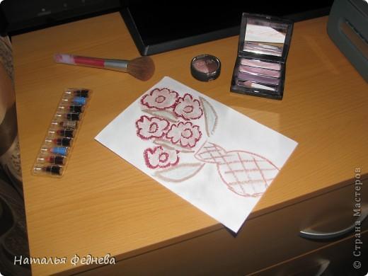 Вдохновилась  http://stranamasterov.ru/node/87390#comment-856057  Только решила еще помаду добавить фото 1