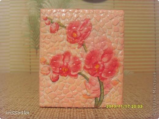"Шкатулка ""Орхидея"" фото 2"